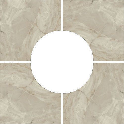 Porcelanite Dos 5021 Base Roseton Gris Декор
